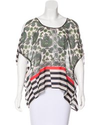 Clover Canyon - Ikat-paneled Striped Top - Lyst