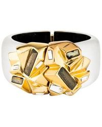 Alexis Bittar - Crystal & Lucite Hinged Bangle Gold - Lyst