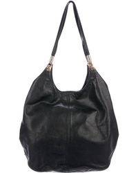 Elizabeth and James - Grained Leather Cynnie Tote Black - Lyst