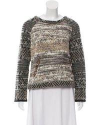 Gryphon - Bouclé Scoop Neck Sweater - Lyst