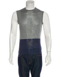 Jil Sander - Silk Color-blocked Tank Top Grey - Lyst