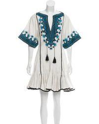 Talitha - Embroidered Mini Dress W/ Tags - Lyst