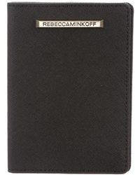 Rebecca Minkoff - Leather Passport Covered Black - Lyst