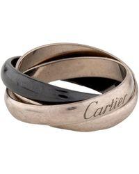 Cartier - Ceramic Trinity Ring White - Lyst