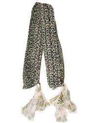 Giada Forte - Animal Print Silk Shawl - Lyst