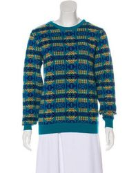 adidas Originals - Printed Knit Sweater Teal - Lyst