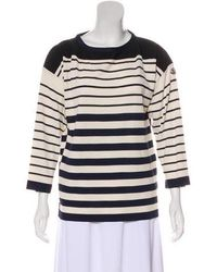 Moncler - Striped Long Sleeve Top Navy - Lyst