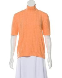 Ferragamo - Wool Knit Turtleneck Orange - Lyst