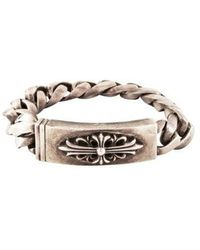 Chrome Hearts - Cemetery Cross Id Bracelet Silver - Lyst