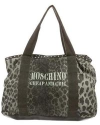 Boutique Moschino - Animal Print Tote Gold - Lyst
