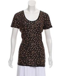 Torn By Ronny Kobo - Embellished Short Sleeve Top - Lyst