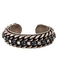 DANNIJO - Crystal Chain Cuff Silver - Lyst