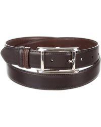 Cartier - Silver-tone Leather Belt Black - Lyst