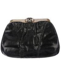 Judith Leiber - Embossed Leather Evening Bag Black - Lyst