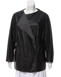 Akris Punto - Long Sleeve Leather Coat - Lyst