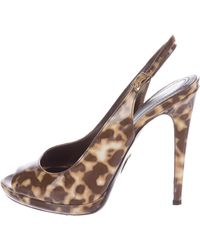 Roberto Cavalli Canvas Slingback Pumps best seller cheap price store cheap price low cost outlet genuine sAd9c