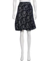 Boutique Moschino - Brocade Knee-length Skirt Navy - Lyst