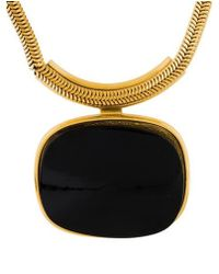 Lanvin - Interchangeable Resin Pendant Necklace Gold - Lyst