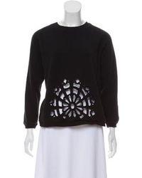 Carven - Embellished Crew Neck Sweatshirt - Lyst