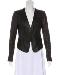 Robert Rodriguez - Collarless Leather Jacket W/ Tags - Lyst
