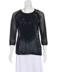 Tess Giberson - Fringe-trimmed Open Knit Top W/ Tags - Lyst