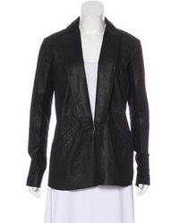 VEDA - Leather Long Sleeve Jacket - Lyst