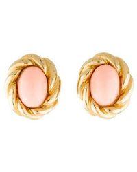 Kenneth Jay Lane - Resin Clip-on Earrings Gold - Lyst