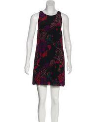 Alice + Olivia - Floral Print Dress - Lyst