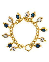 Chanel - Crystal Charm Bracelet Gold - Lyst