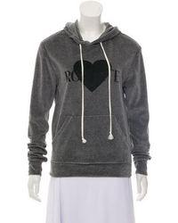 Rodarte - Graphic Print Hooded Sweatshirt Grey - Lyst