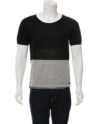 CoSTUME NATIONAL - Crew Neck Colorblock T-shirt Black - Lyst