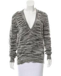 Raquel Allegra - V-neck Pullover Sweater Grey - Lyst