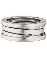 BVLGARI - B.zero1 3-band Ring White - Lyst