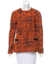 Proenza Schouler - Tweed Collarless Jacket Orange - Lyst