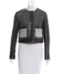 Proenza Schouler - Contrasted Leather Jacket - Lyst