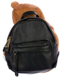 Moschino - Teddy Bear Leather Backpack W/ Tags Brown - Lyst