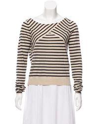Dorothee Schumacher - Silk Striped Sweater Tan - Lyst
