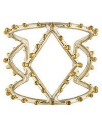 Anndra Neen - Diamond Dotted Cuff Brass - Lyst