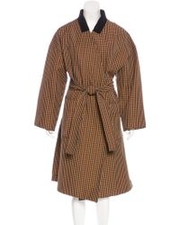 Hache - Patterned Belted Coat W/ Tags - Lyst