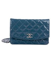 e750c22ef216 Lyst - Chanel Brilliant Wallet On Chain Coral in Metallic