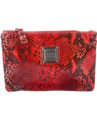 Hervé Léger - Embossed Leather Cosmetic Bag W/ Tags - Lyst