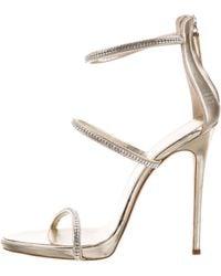Giuseppe Zanotti - Coline 110 Embellished Leather Sandals - Lyst