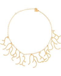 Arme De L'Amour - Coral Charm Necklace Gold - Lyst