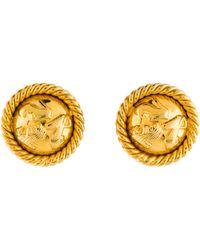 Ferragamo - Shoe Motif Clip-on Earrings Gold - Lyst