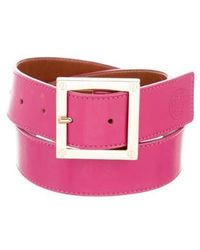 Tory Burch - Leather Buckle Belt Pink - Lyst