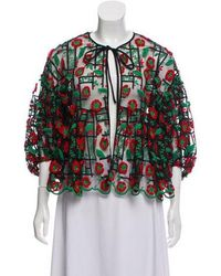 Anna Sui - Embroidered Semi-sheer Blouse - Lyst