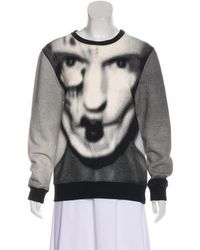 Gareth Pugh - Jacquard Face Print Sweatshirt - Lyst