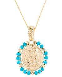 Tagliamonte - 18k Turquoise Venus Pendant Necklace Yellow - Lyst