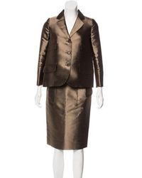 Moschino - Notched-lapel Knee-length Skirt Suit Set Copper - Lyst