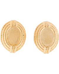 Givenchy - Textured Oval Clip-on Earrings Gold - Lyst